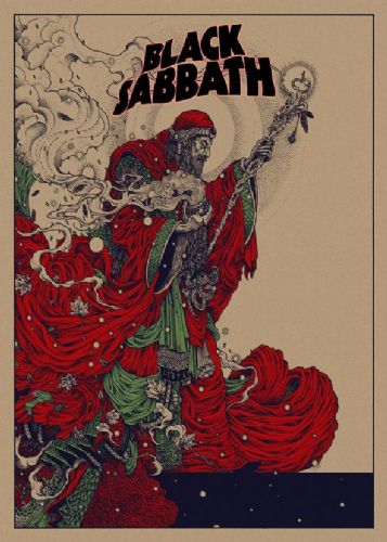 BLACK SABBATH- THE WIZARD RED 2 - canvas print - self adhesive poster - photo print